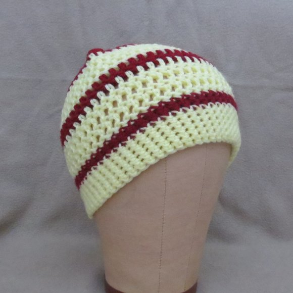 Soft Beanie Chemo Beanie Unisex Adult Striped Beanie One Size fits most Handmade Crochet Beanie Crochet Hat One of a kind Hat